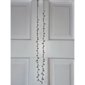 LOFT Silver Chain, Turquoise Necklace